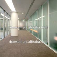 Soundproof office glass partition