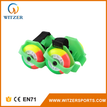 China supplier modern LED light inline skates wheel attach to shoes
