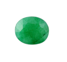 natural emerald oval 10x12mm 4.08ct faceted 1 pieces loose gemstone