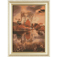 Misty rainy Jiangnan Water beauty Village wholesales diy diamond embroidery painting canvas picture for wall art a176