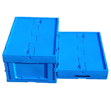 Collapsible plastic container stackable turnover plastic box storage