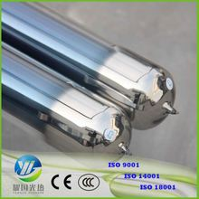 Mini Evacuated Tube Solar Thermal Collector With 12 Heat Pipe Vacuum Tubes Metal Glass 70Mm Solar Vacuum Tube