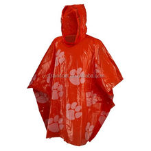 Promotional cheap disposable raincoat for advertising