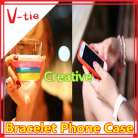 Personalized multi-colors adjustable silicone phone case card holder for novelty gift