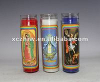 8 Inch Jar100% Vegetable Wax Church Candles
