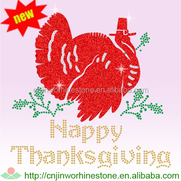 Funny turkey pattern thanksgiving iron on transfers (16)