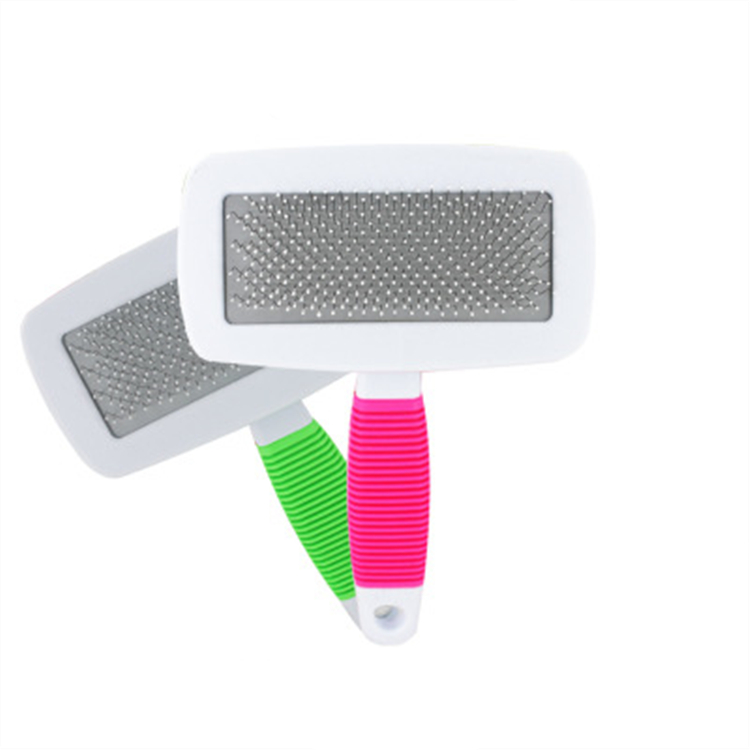 pet grooming damatting brush easily <strong>removes</strong> mats and tangles from pet''s coat