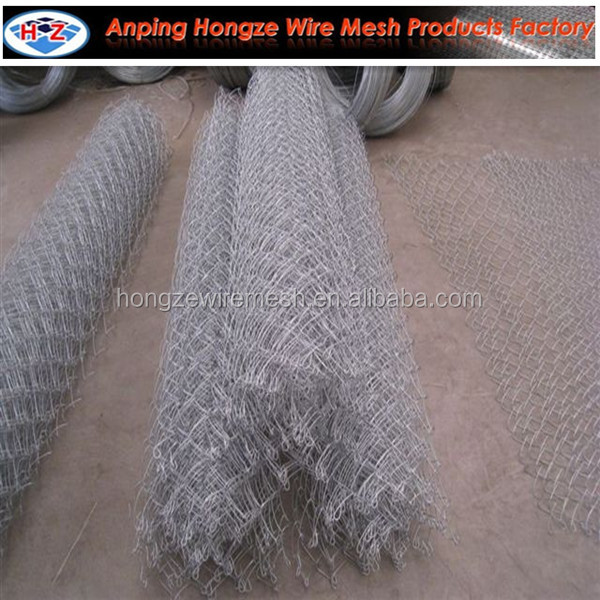 Rust resist & beautiful galvanized chain link fence wire mesh
