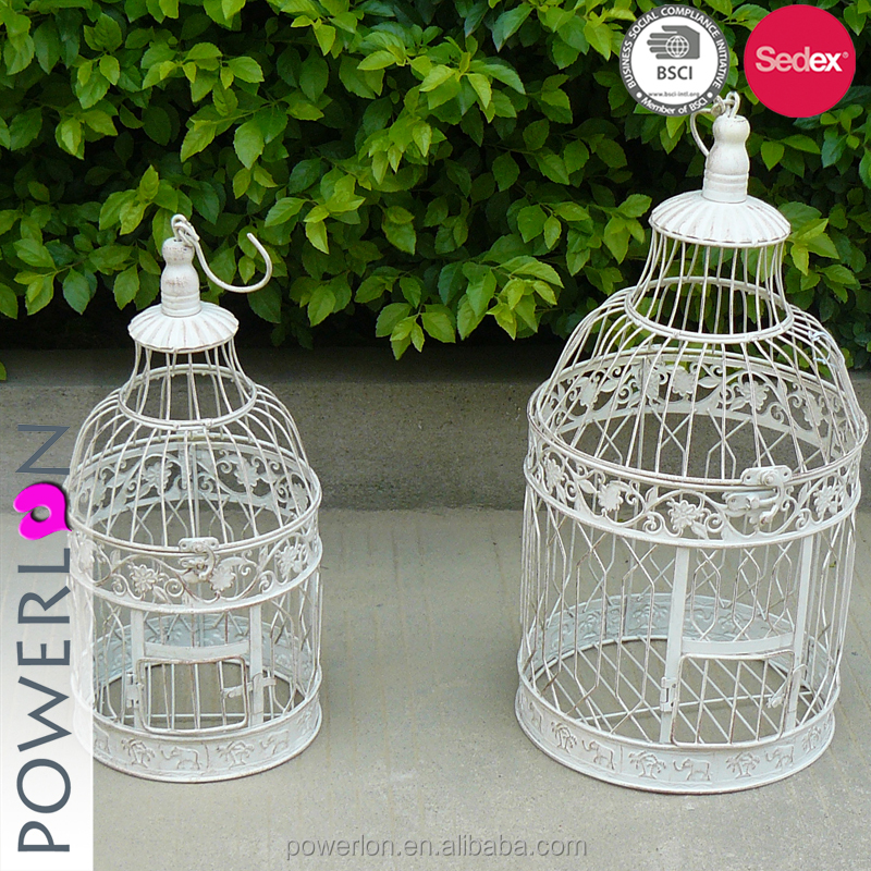 Metal Plant Holder Garden Birdcage Decoration