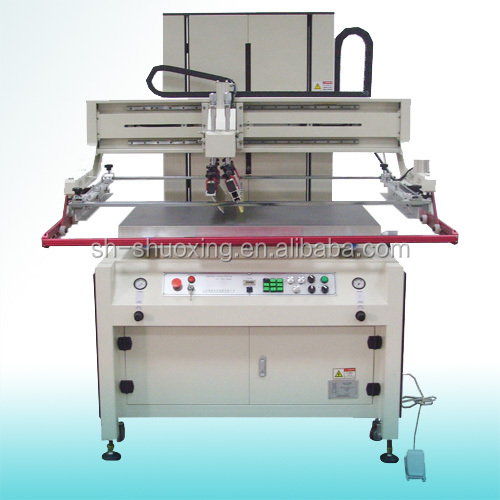 Electrical precision decal screen printing machine