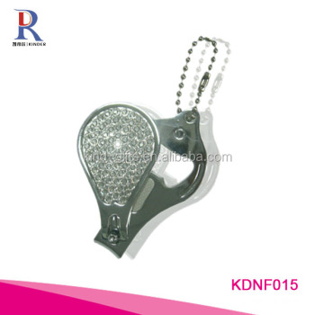Wholesale large interesting gem beaded custom shaped bottle opener nail clipper