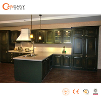 Best modern solid wood kitchen cabinets made in china,fisher & paykel