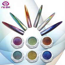 New style 12 colors mirror chrome powder peacock chameleon laser effect nail pigment