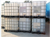 Rotomould 1000l ibc container with steel caged