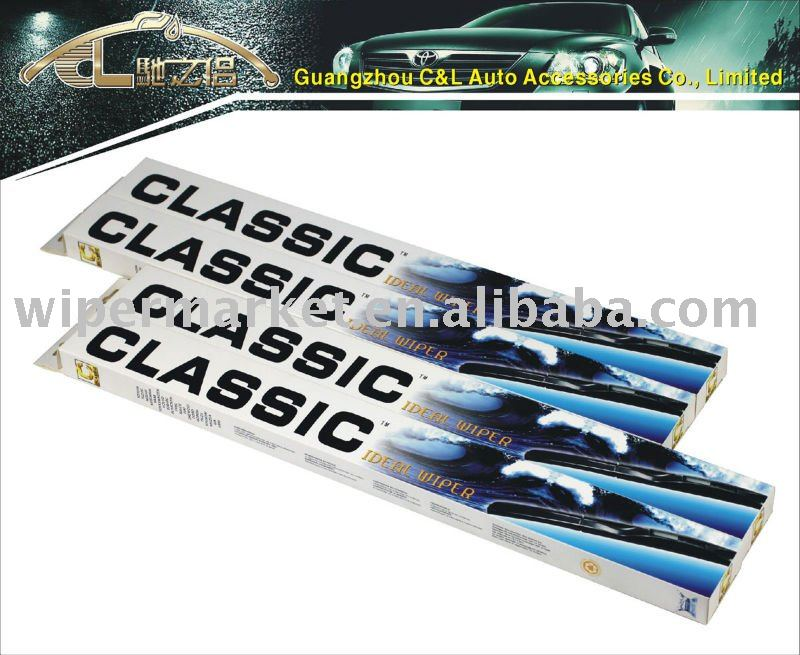 Classic car wiper blade for hook arm