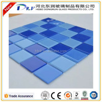 Parquet Feature and Mixed Color Family glass mosaic for swimming pool