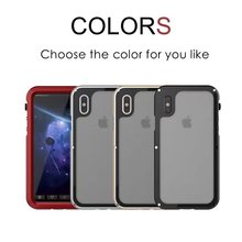 Hot Selling Factory IP68 Red Pepper Seals Series Waterproof Clear Back Cover Case For Iphone 7/7Plus/8/8plus/X/10