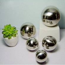 Large hollow stainless steel balls for home decorative , mirror-polished hollow stainless steel balls