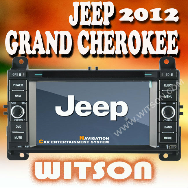 WITSON JEEP GRAND CHEROKEE 2012 navigation radio with USB port and iPod ready