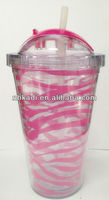 double wall plastic tumbler slide to open 16oz 22oz plastic mug plastic double wall cup