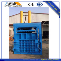 Hydraulic waste cotton and paper baler machine for baling