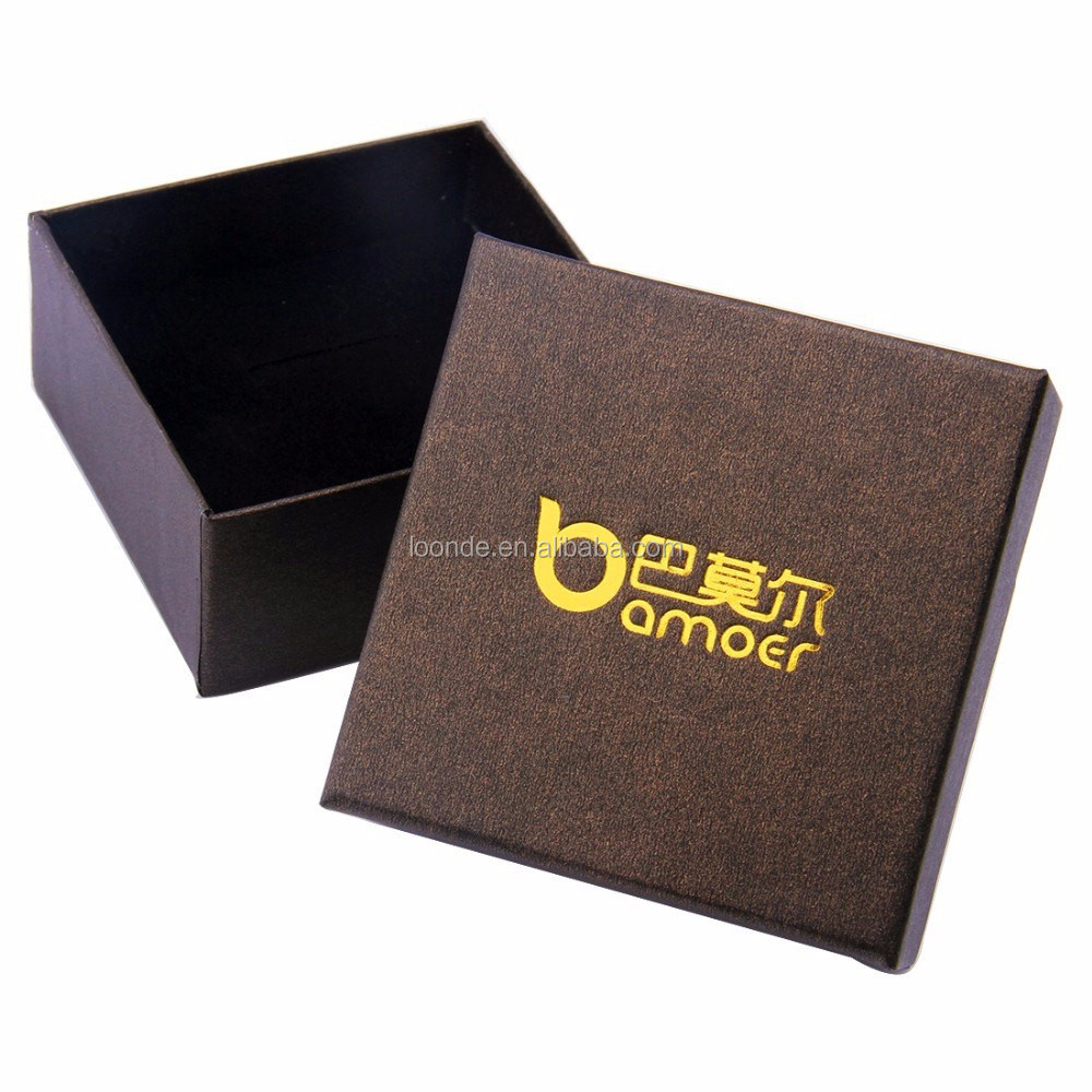 Natural brown paper packaging gift box for necklace bracelet earring