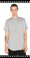 high quality round hem blank 100% preshrunk cotton t-shirts