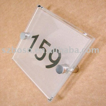 Acrylic Logo Sign,Perspex Floor Sign,Lucite Toilet Sign