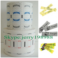 Printable pe laminated paper for sachet sugar&salt&pepper
