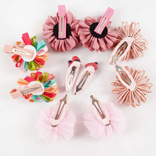New fashion hair bows with clips for children girl crown flower bows SET-601-156
