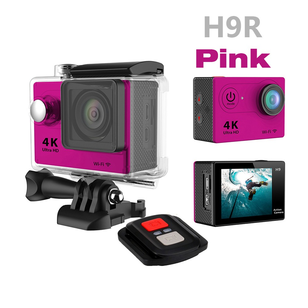 Best Seller in 2017 Factory support 1080P 4k action camera W9 H3R H9R wifi action camera H9 4k go pro camera