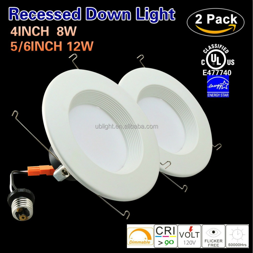 Energy star UL listed 4inch led downlight 8w recessed lights 2700k-6500k 120v