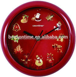 Cason musical clock sound wall clock for christmas decoration
