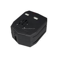 Universal Plug Adapter 2 USB Port World Travel AC Power Charger Adaptor with AU US UK EU converter Plug 3000mah power bank
