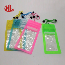 Mobile phone PVC waterproof bag for promotional gift