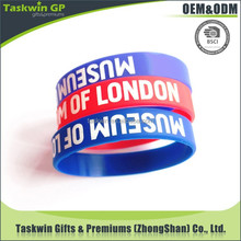 Hot sale good quality custom silicone bangle, Silk-printing phrase silicone wristbands, Promational giveaway
