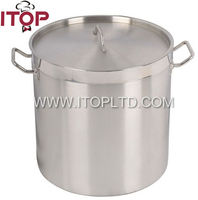 (03 style)tall body stainless steel stock pot with lid