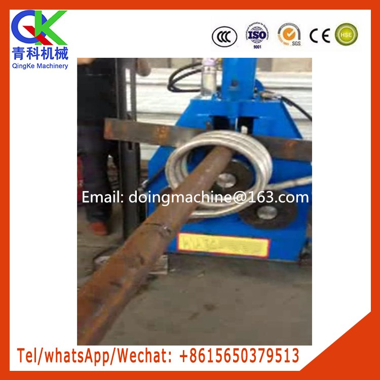 pipe spiral forming machine with 3m wire to control