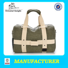 new design army green small canvas duffel bag for travel