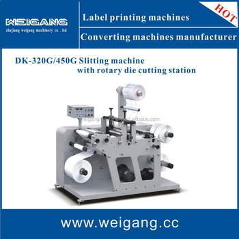 DK-320G Rotary die cutting machine with slitting function for blank adhesive label