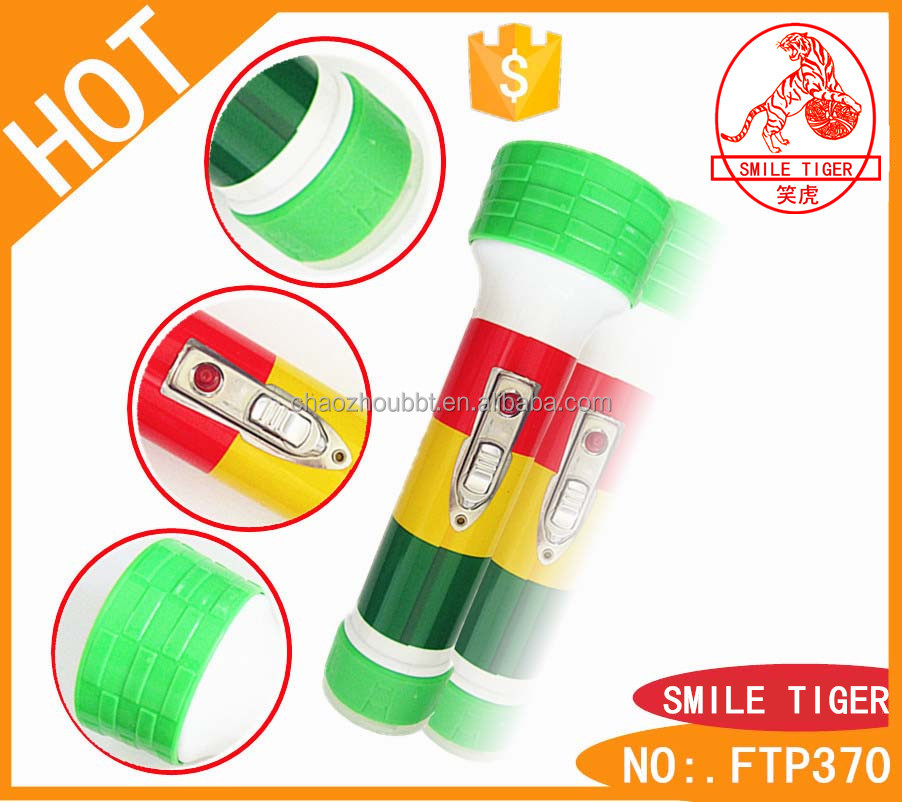 New Products 2015 Innovative Product LED Flashlight Super Bright Torch National Flag Body High Quality