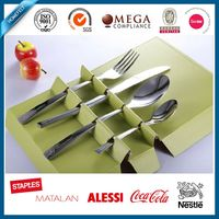 stainless steel cutlery set knife fork spoon teaspoon chinese restaurant cutlery set