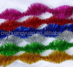 charming Pure color PET tinsel garland like a squirrel's tail