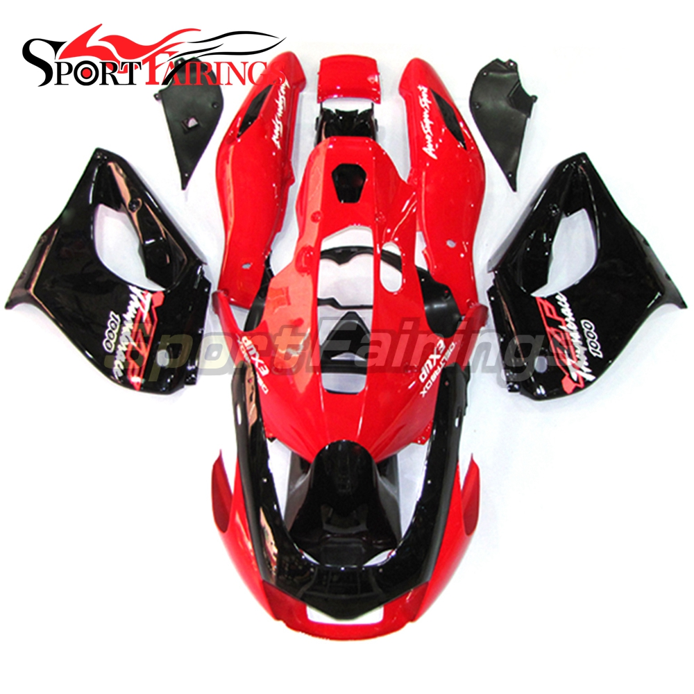 Complete Covers For Yamaha YZF1000R Thunderace Year 1997 - 2007 ABS Plastic Motorcycle Fairing Kit Red Black
