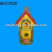 Decorative painting bird houses