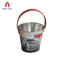 Nice-can Promotional Small Bucket Tin Metal Empty Aluminum Cans Popcorn Tin Aluminum Can