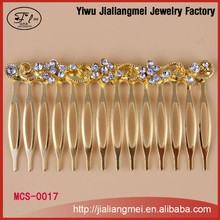 Fancy Leaf Shape Crystal Hair Forks Rhineston Crown Tiara