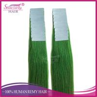 High Quality tape in hair extensions full head tape hair extensions extensions tape method Green color
