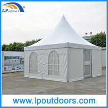 5x5m Outdoor aluminum frame pagoda tent with glass door for wedding