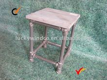 Rustic style living room metal wooden taboret